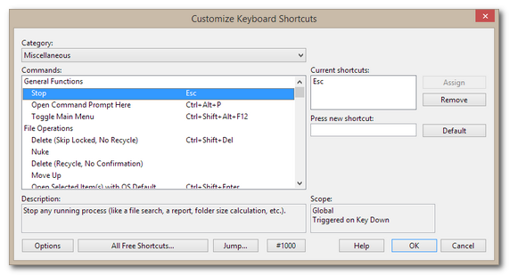 Customizable Keyboard Shortcuts