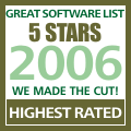 Rated 5 stars at The Great Software List